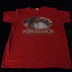 Tops - American Welcomes Pop Francis Shirt - medium